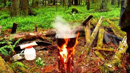Как получить огонь в мокром лесу
